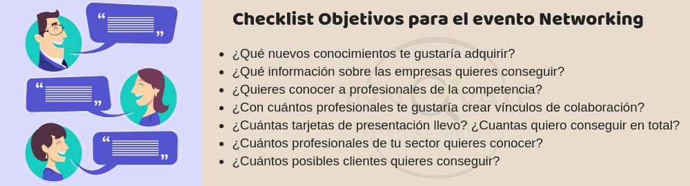 Checklist networking