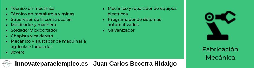 Portales de empleo del sector de la fabricación mecánica